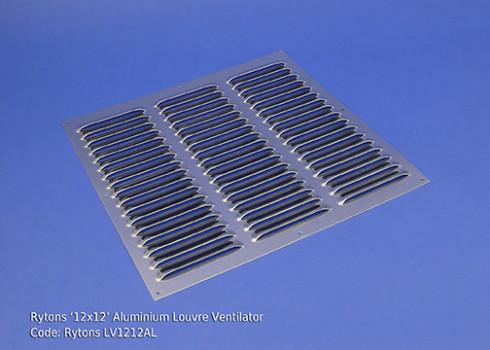 lv1212al rytons 12 12 aluminium louvre ventilator. Black Bedroom Furniture Sets. Home Design Ideas