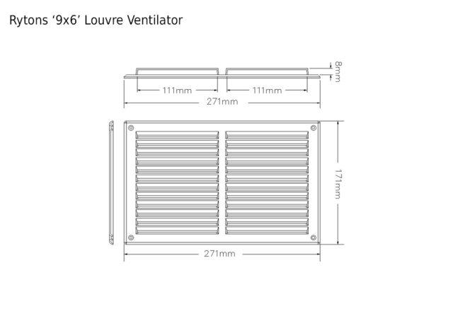 Lv177 Rytons 9 215 6 Louvre Ventilator Rytons Building