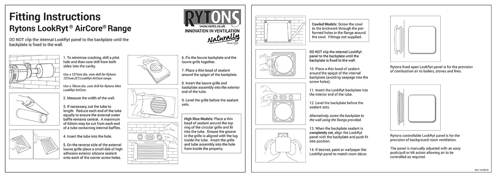 Rytons LookRyt AirCore Fitting Instructions